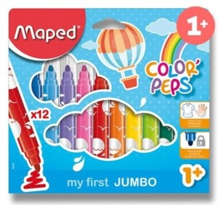MAPED Fixy Color'Peps Jumbo 12ks (výprodej)